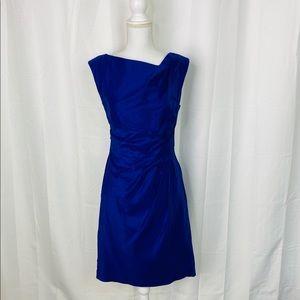 Suzi Chin for Maggy Boutique Blue Sheath Dress